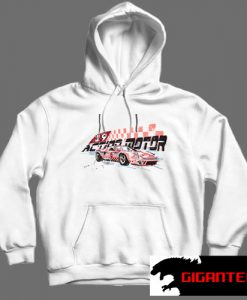 Action Motor White color Hoodies