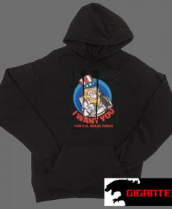 Space Force I Want You Black color Hoodies