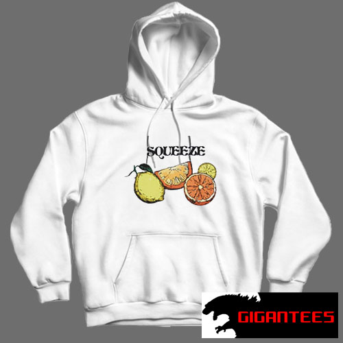 Squeeze White color Hoodies