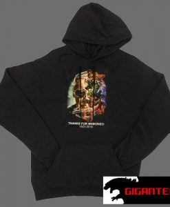 Stan Lee Thanks For Memories Black color Hoodies