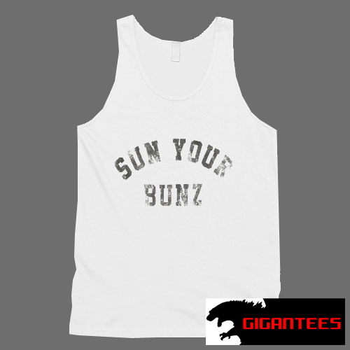 Sun Your Bunz Letter Tank Top Men And Women