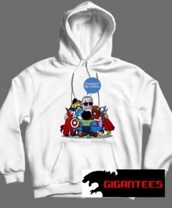 Superhero Stan Lee White color Hoodies