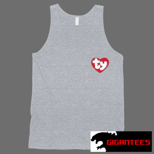 TY Heart Logo Tank Top Men And Women