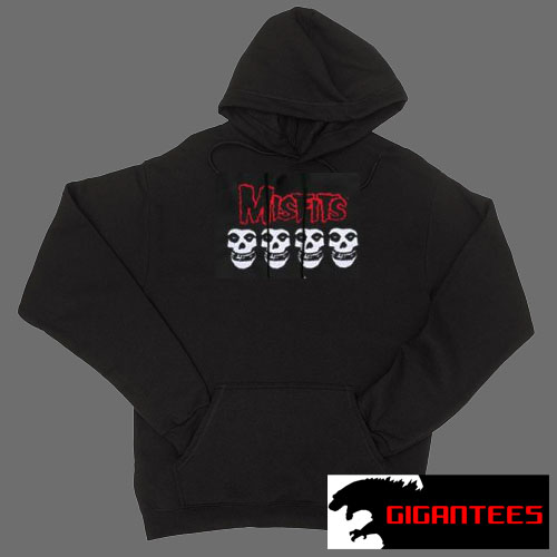 The Misfits Logo And Skull Black color Hoodies