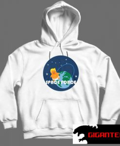 Trump baby Space Force White color Hoodies