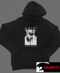 Yours Truly Forever Blessed Rose Black color Hoodies