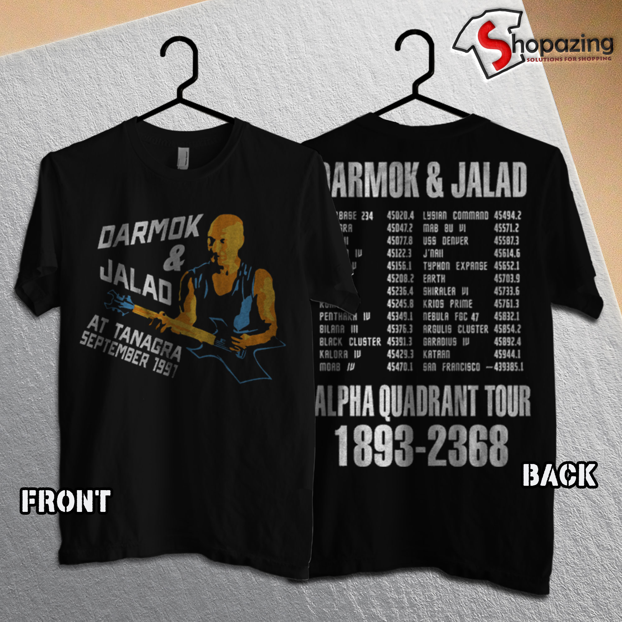 Darmok & Jalad at Tanagra T shirt Front Back
