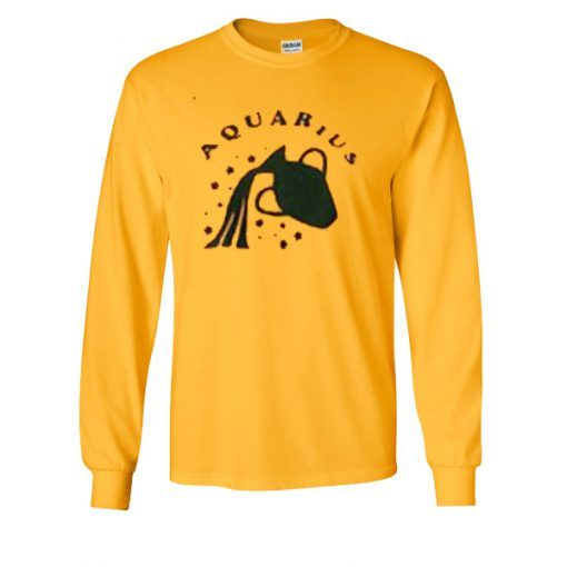Aquarius-yellow-Sweatshirt ZNF08