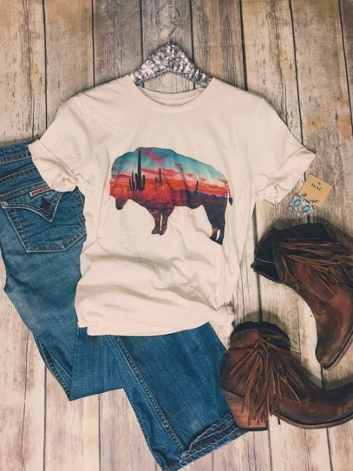 Arizona Buffalo Tee Shirt ZNF08