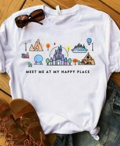 Meet Me At My Happy Place T-Shirt ZNF08