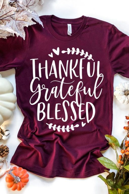 Thankful Grateful Blessed Tee ZNF08