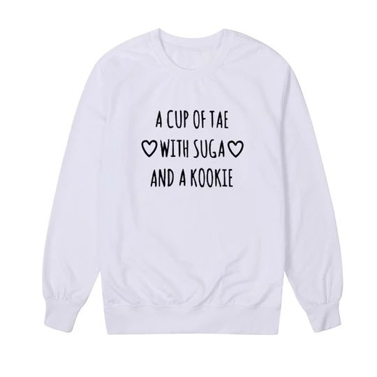 BTS A Cup Of Tae With Suga Sweatshirts ZNF08