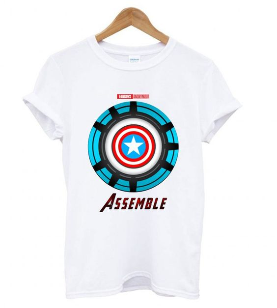 Captain America and Iron Man T shirt ZNF08