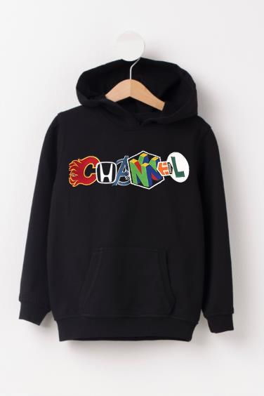Channel Unique Logo Black hoodies ZNF08