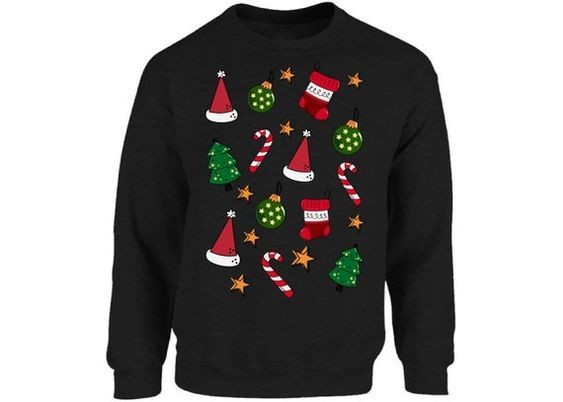 Christmas Pattern Sweatshirt ZNF08