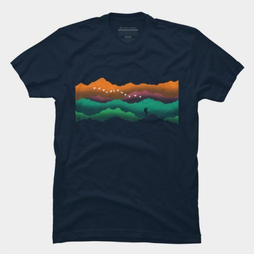 Colorful Mountain T-Shirt ZNF08