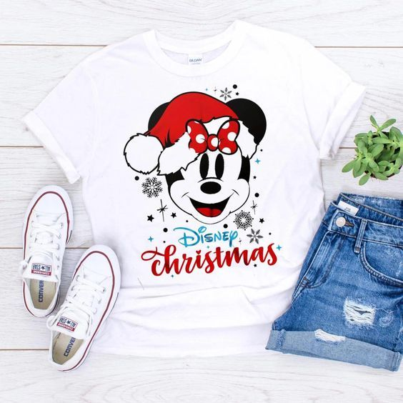 Disney christmas Mickey Tshirt ZNF08