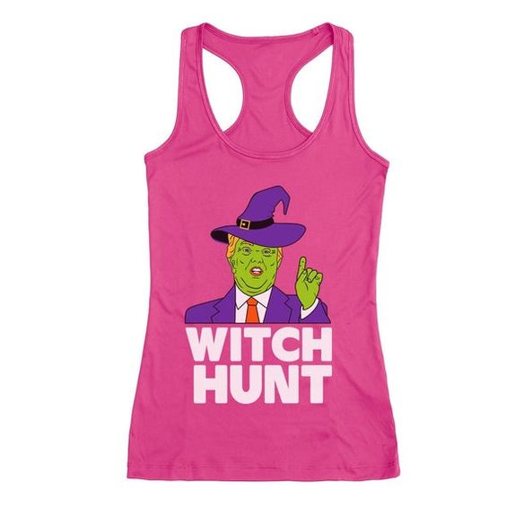 Donald Trump Witch Hunt Halloween Funny Costume Racerback Tank Top ZNF08