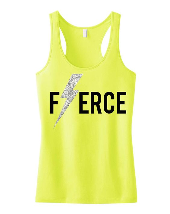 FIERCE Glitter Lightning Workout Tank Top ZNF08