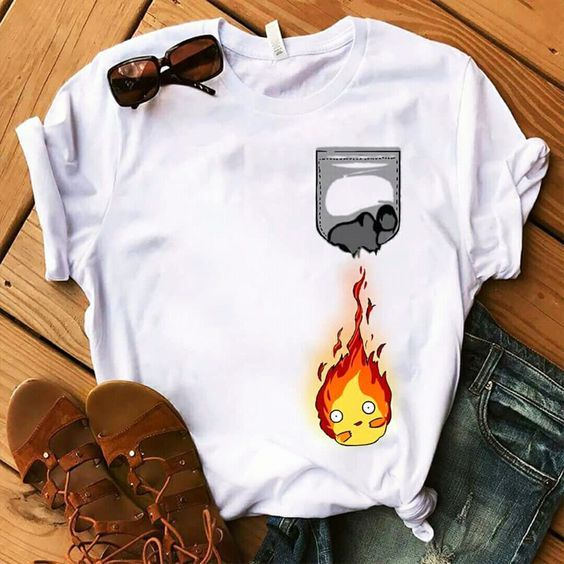 Fire Pocket T Shirt ZNF08