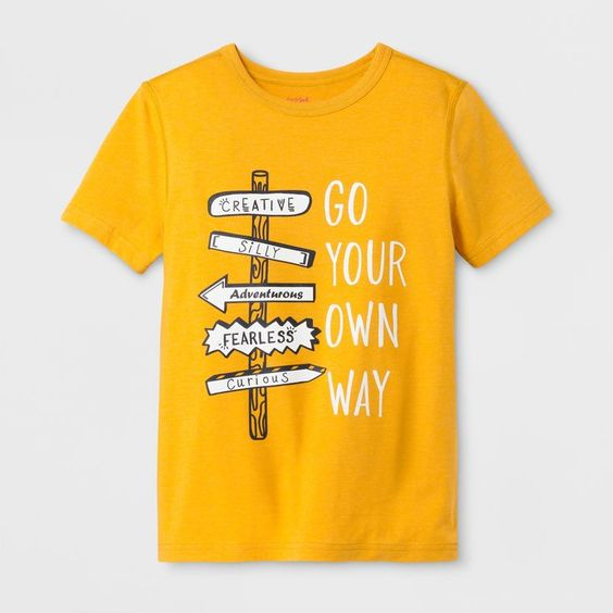 Go Your Own Way Graphic T-Shirt ZNF08