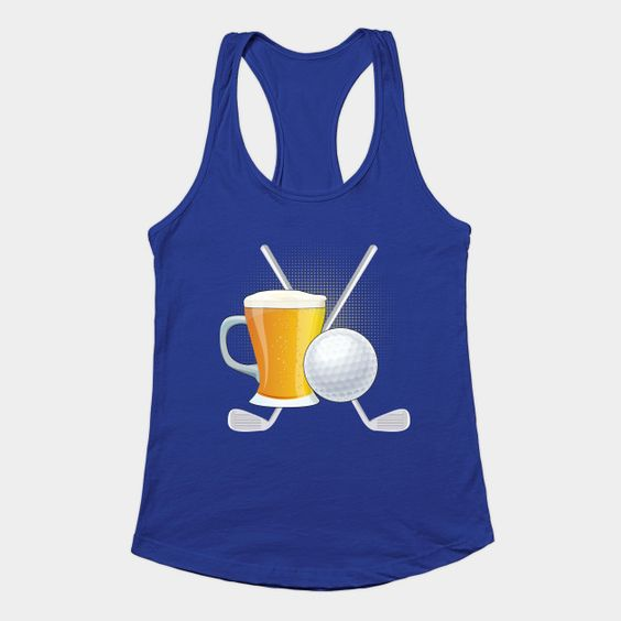 Gold And Beer Tank Top Women ZNF08