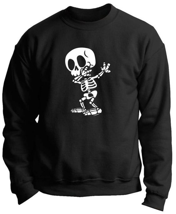 Halloween Dabbing Skeleton Sweatshirt ZNF08