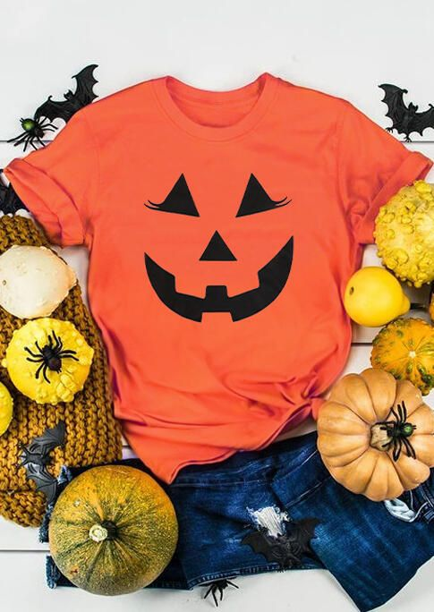 Halloween Pumpkin Smile Face T-Shirt ZNF08