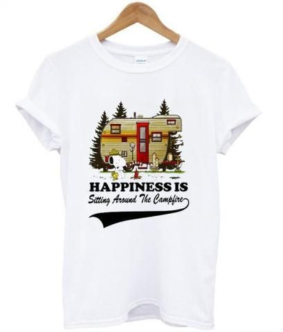 Happiness Is Sitting Around The Camplife T Shirt ZNF08