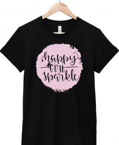 Happy Girl Sparkle T Shirt ZNF08