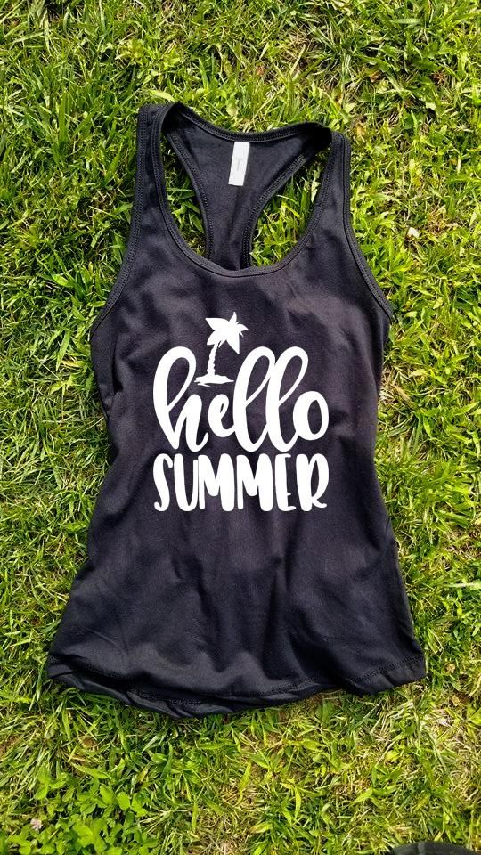 Hello Summer Tank Top ZNF08