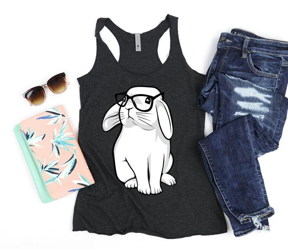 Hipster Rabbit Womens Tank Top ZNF08