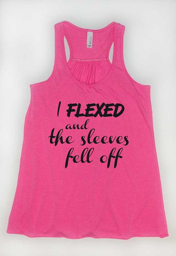 I Flexed And The Sleeves Fell Off Flowy Workout Tank ZNF08