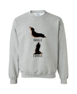Inhale Exhale Black Tan Dachshund Sweatshirt ZNF08