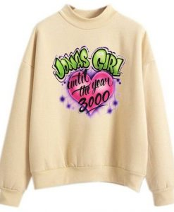 Jonas Girl Custom Airbrushed Cream sweatshirts ZNF08