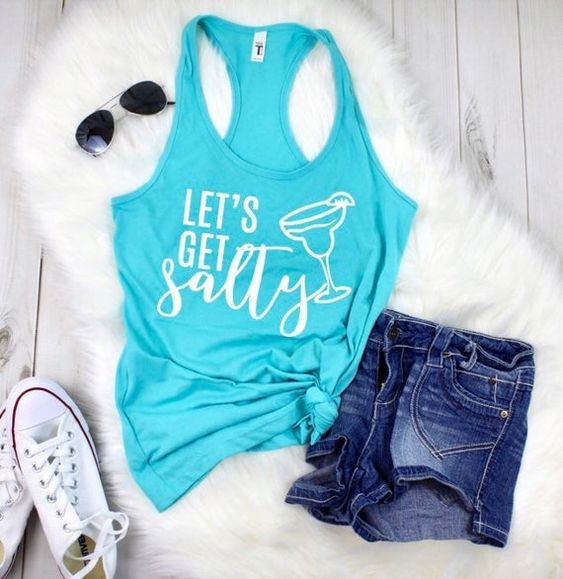 Lets get salty Tank Top ZNF08