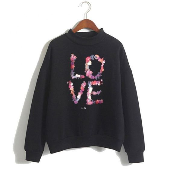 Love Flowers Sweatshirt ZNF08