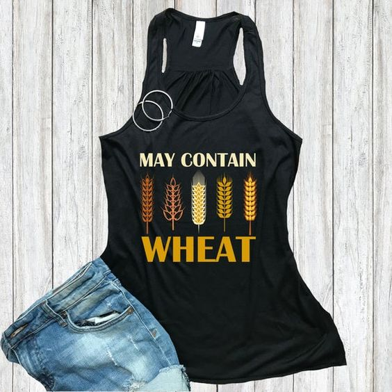 May Contain Wheat Funny Foodie TANK TOP ZNF08