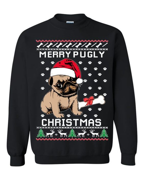 Merry Pugly Christmas Ugly Christmas Sweater ZNF08