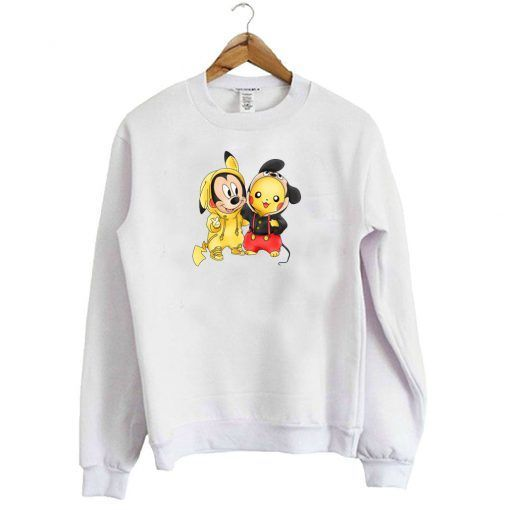 Mickey and Pikachu Sweatshirt ZNF08