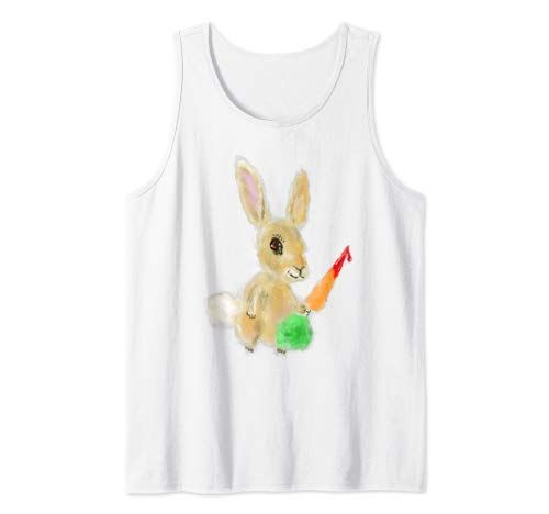 Misunderstood Bunny Rabbit With Carrot Tank Top ZNF08