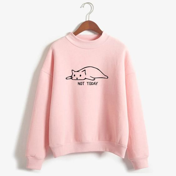 Not Today Cat Sweatshirt ZNF08