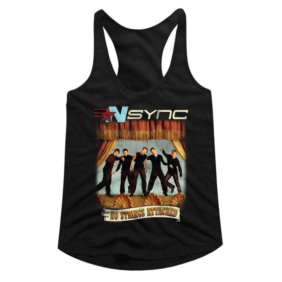 Nsync-No Strings No Words Black Junior Women's TANK TOP ZNF08