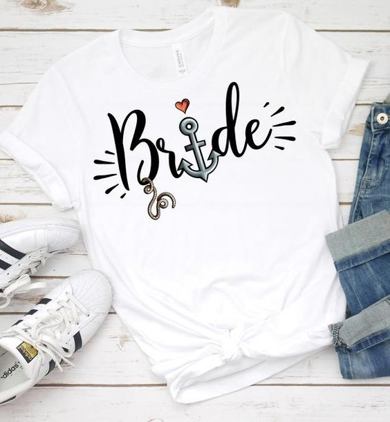 Out to Sea with the Bride to Be T Shirt ZNF08
