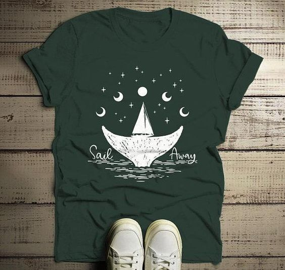 Sail Away Sailboat Shirt ZNF08
