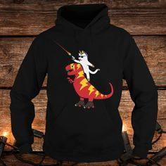 Unicorn Cat Riding Hoodie ZNF08
