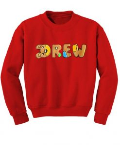 Drew Red Sweatshirt ZNF08