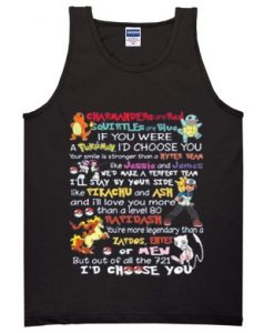 charmander are red pokemon quotes tanktop