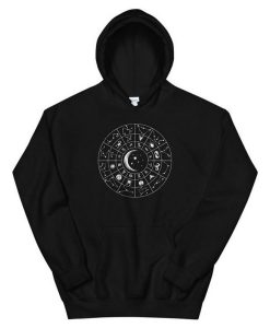 Aesthetic Astrology Signs Chart Unisex Hoodie
