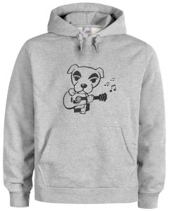doggy with guitar hoodie